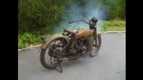 1924 Harley Davidson starting for the first time After Years