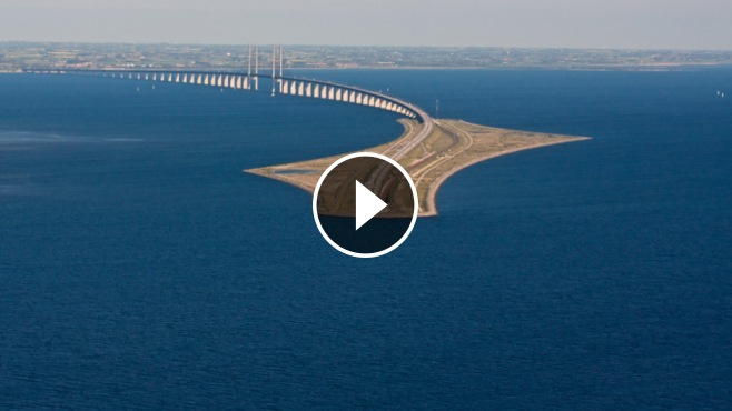 Sports Car Brands >> This INSANE Looking Bridge Turns Into a Tunnel and Connects Denmark and Sweden