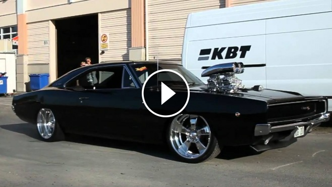 Brutal Sound Amp Good Looking 68 Dodge Charger