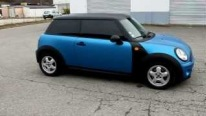 Blue Mat Wrapped Cool Mini Cooper