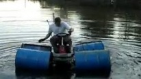 Redneck Jet Ski - Lawnmower Drives On WATER