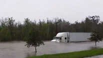 Flood Waters Can't Stop This Truck in South Carolina
