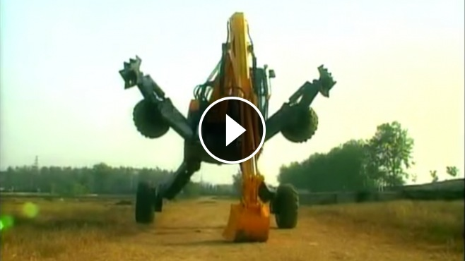 Amazing All Terrain Spider Excavator