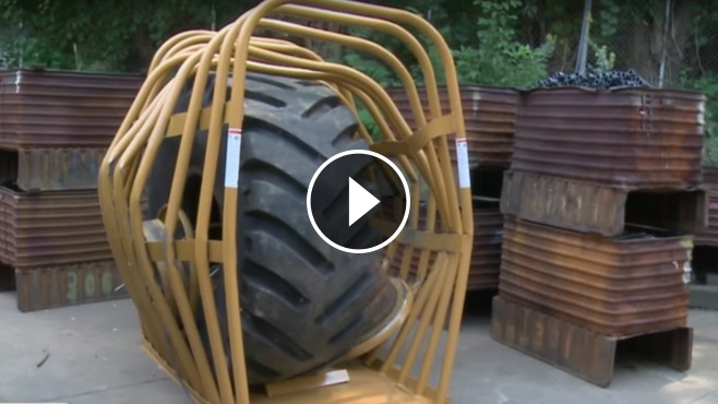 The Great Explosion With The Biggest Single Piece Tire