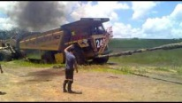 70 Ton CAT 777 Haul Truck Successfully Rescued by CAT D10