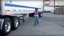 Young Lady Reverse 10-Spd Manual Semi Truck Like a Boss