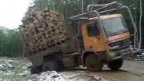 Epic Fail Logging Truck Recovery Gone Bad
