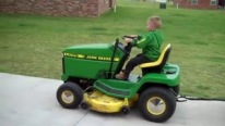 4 Year Old Cute Boy Drives John Deere Like a Pro