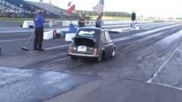 Honda S2000 Powered Tiny Monster Fiat 500 Crosses 1/4 Mile at 10 Seconds