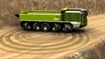 This Mining Truck Shows Full Turning Circle