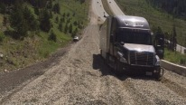 Truck Almost Rolls Over Using Runaway Ramp