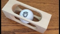 Making Mystery Golf Ball Stuck in a Block of Wood