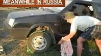 Russian Brain Works at Its Highest: Starting a Car with a Dead Battery