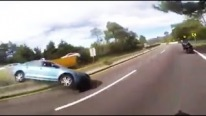 Rage on the Road: Crazy Driver Makes the Car Overturned While Racing with Bikers