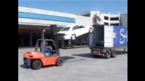 Loading Cars Into Shipping Containers Quickly and Properly