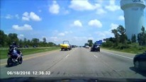 Bizarre Motorcycle Accident: Motorcyclist Hits I-94