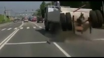 What Happens When Wheels and Rear End Fly Off the Dump Truck?