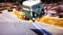 Small-Scale Volkswagen Camper Van Flips over and Crashes at the Red Bull Soapbox Race