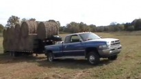 1970 5.9L 12-Valve Powered Pickup Truck Pulls an Ultra-Heavy Load