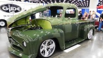 Breathtaking Pickup Street Truck with Beautifully Done Green Paint Job