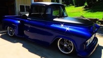 55 Chevy Street Truck with an Eye-Pleasing Blue Paint Job