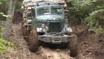 Badass Russian Off-Road Truck Takes a Trip on Bieszczady Mountains