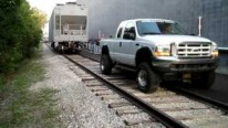 Impressively Cool Ford Powerstroke Pulls 98,000Ib Rail Car