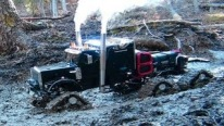 "The R/C Power Rises: 6x6 Tracked Smokin' Hot Semi-Truck Annihilates Badass 4x4 ""Beast"""