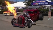 "Badass Hot Rod ""Wild Thang"" Flows Flame at the Father's Day Car Show"
