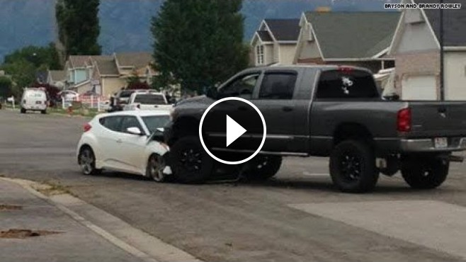 brave truck driver puts a majestic end to a police chase in utah. Black Bedroom Furniture Sets. Home Design Ideas