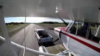 PA-18 Super Cub 3 Takes Off From Trailer so Smoothly