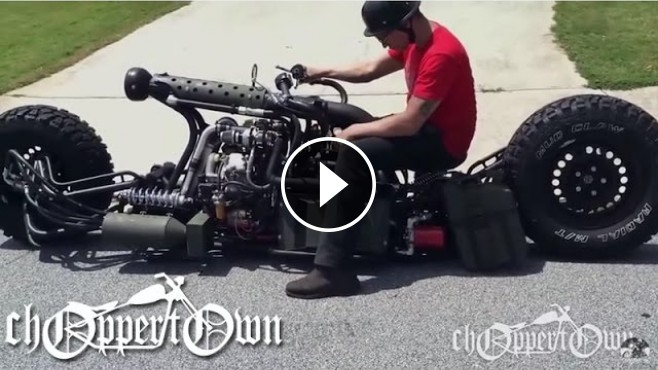 Sam Turner's Extremely Badass V-Twin Turbo Diesel AWD Motorcycle