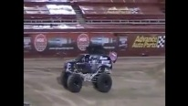 Have Quite the Blast with a Monster Truck Doing Double Backflip