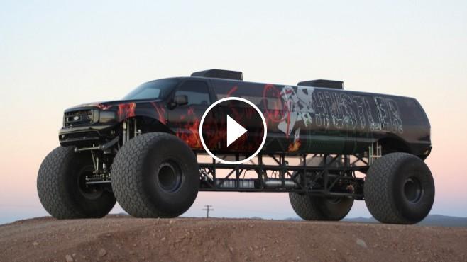 """Insanely Amazing """"Sin City Hustler"""": Longest Monster Truck on the Globe"""