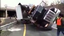 Terrible Footage: Truck Rescue Gone Horrifically Wrong