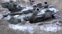 Legendary Russian Military Tank T-90 Gets Stuck in the Mud