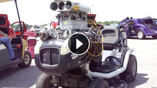 Lawn Mower Cylinder Block : Monstrously cool lawn mower powered by chevrolet small