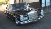 Old School 1969 Mercedes-Benz 280S Powered Supercharged V8 Small Block