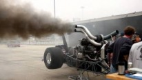 Triple Turbo Diesel Powered Dragster Makes Crazy But Not-So-Eco-Friendly Burnouts While Warming Up