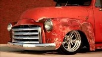 "Now That's Ultra-Sick Truck: ""T-REX"" 1951 Slammed GMC Patina Chevrolet Pickup"