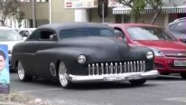 Stunning Full Custom Deluxe Matte Black 1951 Ford Mercury with a Breath-Taking Air Suspension Setup