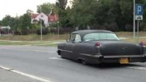 "The ""Evil King"": Extremely Charismatic Matte Black 1956 Cadillac"