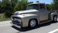 1956 Model Perfectly Painted Ford F-100 Hot Rod Pickup Looks Fantastic and Sounds Eargasmic