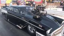 Scream of a Badass 1957 Chevy with the Loudest Blower Whine Ever