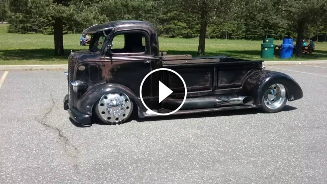 Mid Engine Powered Faux Patina 1938 Ford Coe Is Customized To Perfection