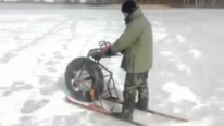 Strange But Totally Brilliant Invention: Chainsaw-Powered Ski Bike
