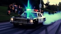 Visually Attractive Cop Themed Big Block Powered 1976 Plymouth Fury Does Crazy Burnouts