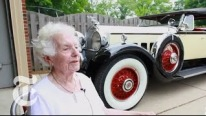 When Two Classics Come Together: An Adorable 101 Year Old Lady with Her Real Love 1930 Packard 740 Roadster