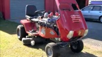 Challenge Accepted: See What Happens When Someone Reckons Colin Evans Could Never Mount V8 Engine on Ride-on Mower