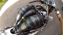 Badass Homemade Yamaha Motorcycle with Compelling 700cc 2-Stroke 3- Cylinder Engine